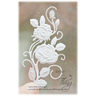 Joy!Crafts Snij-embosstencil 3D - Roos swirl