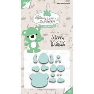 Joy!Crafts Snij-embosstencils - LWA - Berry Bear