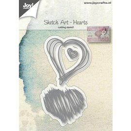 Joy!Crafts Snijstencils - Sketch Art - Harten