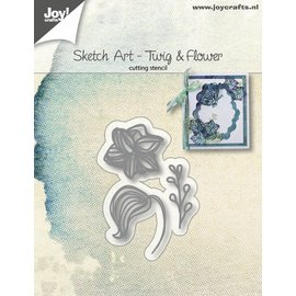 Joy!Crafts Snijstencils - Sketch Art - Bloem blad tak