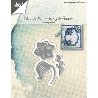 Joy!Crafts Snijstencils - Sketch Art - Bloem blad tak