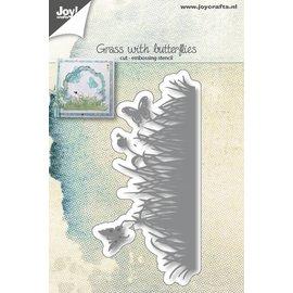 Joy!Crafts Snij-embosstencil - Gras met vlinders