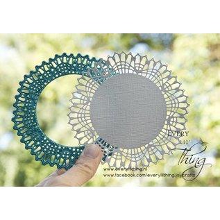 Joy!Crafts Snij-embosstencil - Blauw Kantrand Cirkel