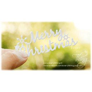Joy!Crafts Snij-embosstencil - Silent Night - Frame Merry Christmas