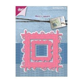 Joy!Crafts Snijstencils - Mery's Vierkant met cirkels