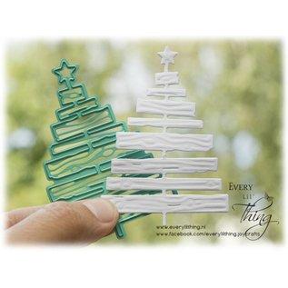 Joy!Crafts Snij-embosstencil - Silent Night - Deco Kerstboom