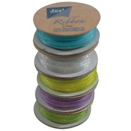 Joy!Crafts Organza 3 mm Voorjaarskleuren