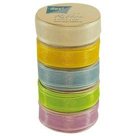 Joy!Crafts Organza 9 mm x 5 voorjaarskleuren