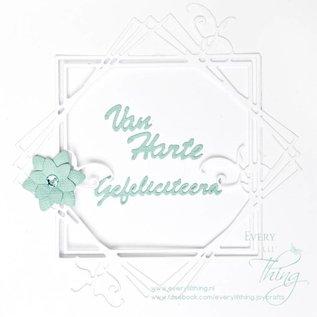 Joy!Crafts Snijstencil  - Frame vierkant met takjes