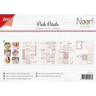 Joy!Crafts Labelvellen/knipvel - Noor - Pink Petals