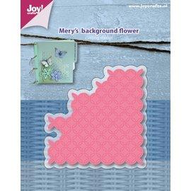 Joy!Crafts Snijstencil - Mery's Achtergrond - Bloem