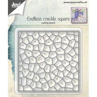 Joy!Crafts Snijstencil - Vierkant craquele eindeloos