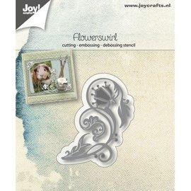 Snij-embos-debosstencil - Flowerswirl