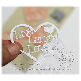 Joy!Crafts Snij stencil - Hart met tekst (3st)