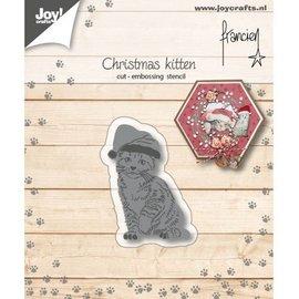 Snij-embosstencil - Franciens Kerst-kitten