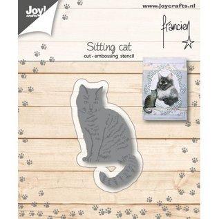 Snij-embosstencil - Franciens Kat zittend