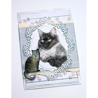 Joy!Crafts Snij-embosstencil - Franciens Kat zittend