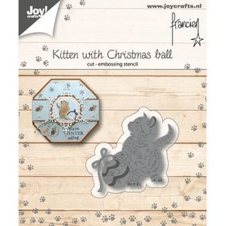 Joy!Crafts Franciens Kitten met kerstbal