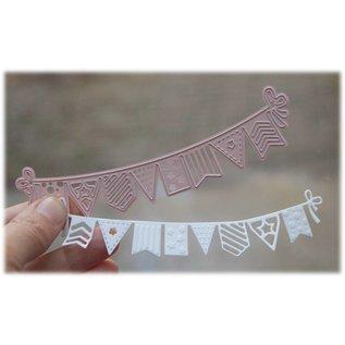 Joy!Crafts Snij-embosstencil - Noor!- Vlaggenlijn