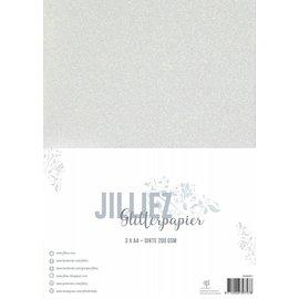 Jilliez Jilliez Papierset A4 glitter 3 vel Parelmoer