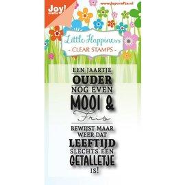 Joy!Crafts Clear stempel - Een jaartje ouder