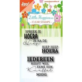 Joy!Crafts Clear stempel - Hiep hiep hoera