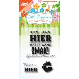 Joy!Crafts Clear stempel - Birthday text - Smak!