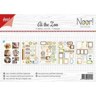 Joy!Crafts Labelvellen/knipvel - Noor  - At the zoo