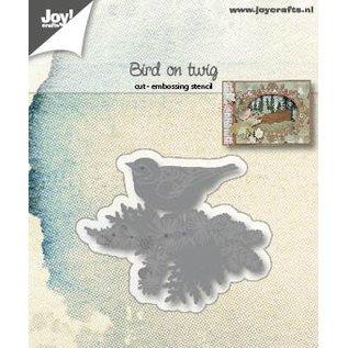 Joy!Crafts Snij-embosstencil - Vogel op tak