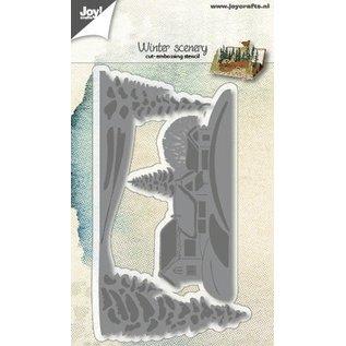 Joy!Crafts Snij-embos-3Dlijnstencil - Winterlandschap