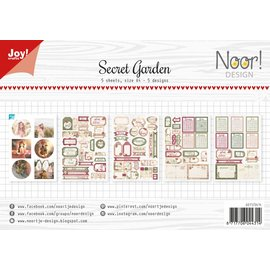 Joy!Crafts Labelvellen/knipvel - Noor  - Secret Garden