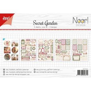 Joy!Crafts Labelvellen/knipvel - Noor  - Secret Garden