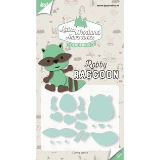 Joy!Crafts Snijstencil - LWA - Dendennis - Robby Raccoon