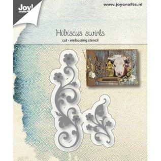 Joy!Crafts Snij-embosstencil - Hibiscus Swirls