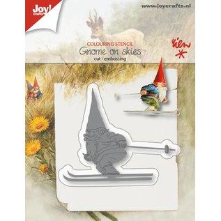 Joy!Crafts Snij-embosstencil - Kabouter op skies