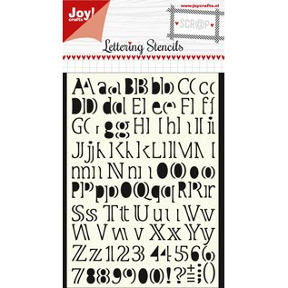 Joy!Crafts Polybesa maskstencil - Letteringstencil