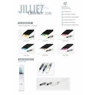 Jilliez Jilliez Aqua Brushmarkers Set Blue