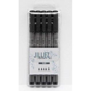 Jilliez Jilliez Artliners set zwart