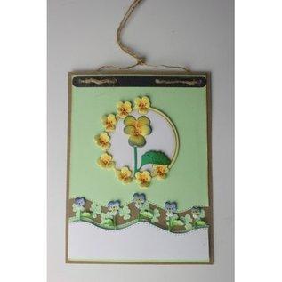 Joy!Crafts Snij-embosstencil - Mery's Viooltjes golf border