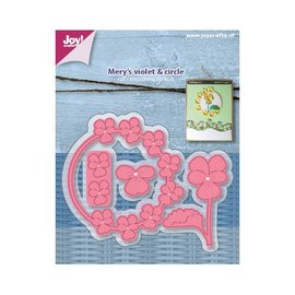 Joy!Crafts Snij-embosstencil - Mery's Viooltje/violencirkel