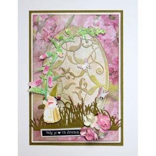 Joy!Crafts Snij-kleurstencil - Kaboutervrouw draagt bloem