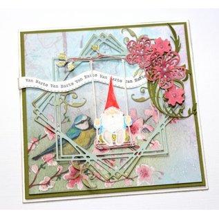 Joy!Crafts Snij-kleurstencil - Kabouter op schommel