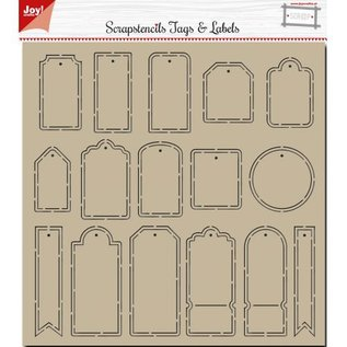 Joy!Crafts Polybesa Scrap stencil - Noor - Tags and Labels