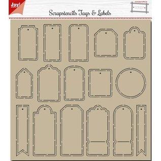 Joy!Crafts Polybesa Scrap stencil - Noor - Tags and Labels