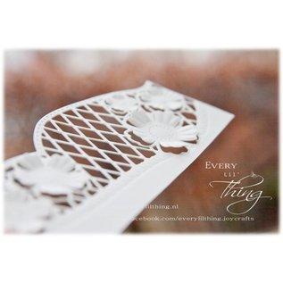 Joy!Crafts Snij-embosstencil - Rand met snijwerk & bloemen