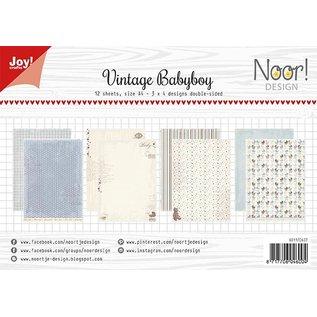 Joy!Crafts Papierset - Design Vintage Babyboy