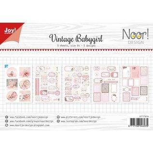 Joy!Crafts Labelvellen/knipvel  - Vintage Babygirl