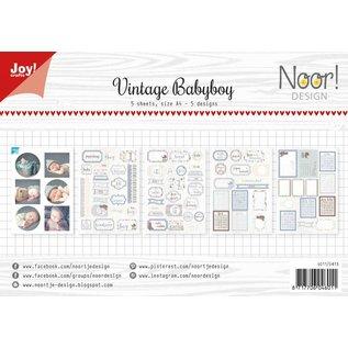 Joy!Crafts Labelvellen/knipvel - Vintage Babyboy