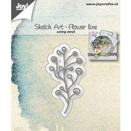 Joy!Crafts Snijstencil - Sketch Art - Bloemen-lijn