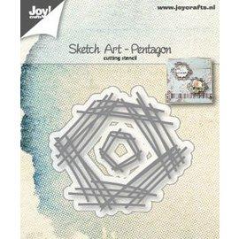 Joy!Crafts Snijstencils - Sketch Art - Pentagon